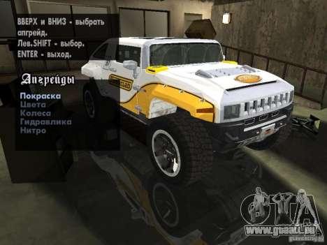Hummer HX Concept from DiRT 2 pour GTA San Andreas vue arrière