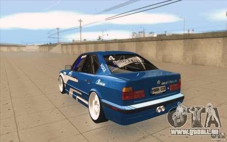 BMW E34 V8 pour GTA San Andreas sur la vue arrière gauche