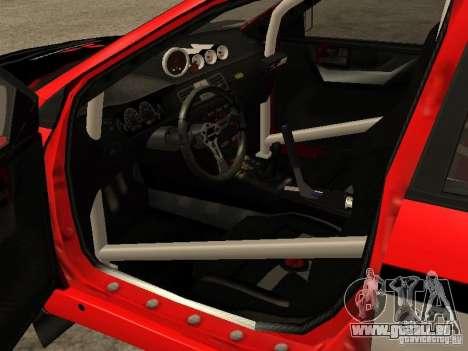 Mitsubishi Lancer Evo IX DiRT2 für GTA San Andreas Innenansicht