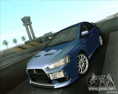 Mitsubishi Lancer Evolution X 2008 pour GTA San Andreas