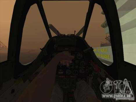 P51D Mustang Red Tails für GTA San Andreas Rückansicht