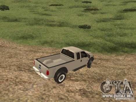 Ford Super Duty F-550 für GTA San Andreas zurück linke Ansicht