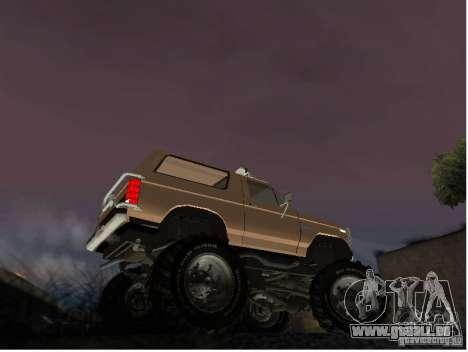 Ford Bronco IV Monster pour GTA San Andreas sur la vue arrière gauche