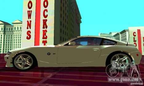 BMW Z4 E85 M pour GTA San Andreas vue intérieure