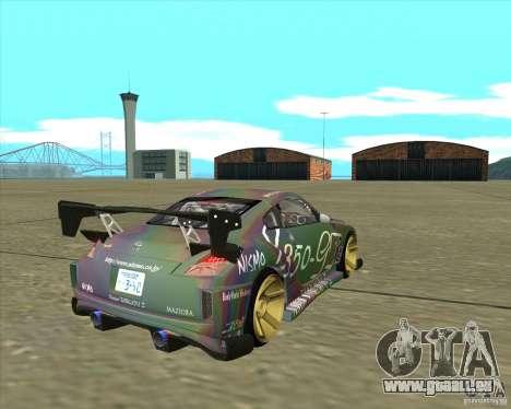 Nissan 350Z Fairlady pour GTA San Andreas laissé vue