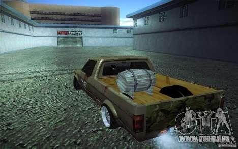 US Army Volkswagen Caddy pour GTA San Andreas laissé vue