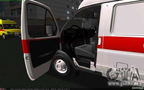 Gazelle 22172 Krankenwagen für GTA San Andreas zurück linke Ansicht