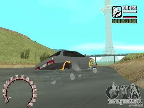 VAZ 21099 4 x 4 pour GTA San Andreas sur la vue arrière gauche