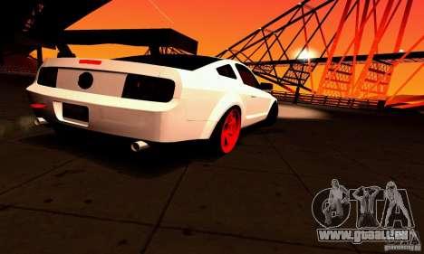 Shelby GT500 KR pour GTA San Andreas salon