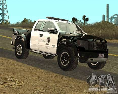 Ford Raptor Police für GTA San Andreas linke Ansicht