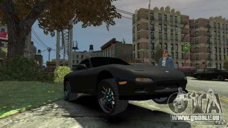 Mazda RX7 1995 Black [EPM] pour GTA 4 est une vue de dessous