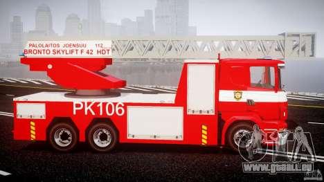 Scania R580 Fire ladder PK106 [ELS] für GTA 4 Rückansicht