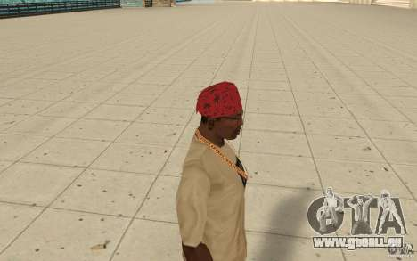Maryshuana rouge bandana pour GTA San Andreas deuxième écran