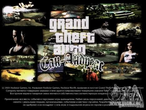 Menüs und laden Bildschirme NFS Most Wanted für GTA San Andreas