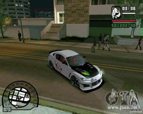 Mazda RX8 JDM Style pour GTA San Andreas