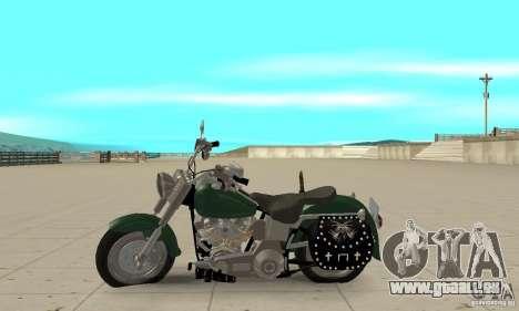 Harley Davidson FLSTF (Fat Boy) v2.0 Skin 1 pour GTA San Andreas laissé vue