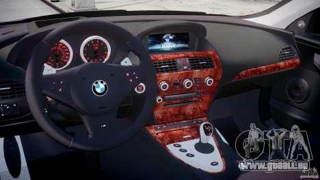 BMW M6 2010 v1.5 pour GTA 4 est un droit