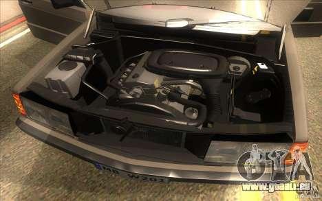 Mercedes-Benz 190E W201 pour GTA San Andreas vue intérieure
