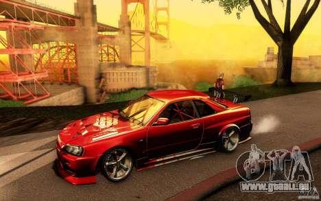 Nissan Skyline GT-R34 pour GTA San Andreas salon