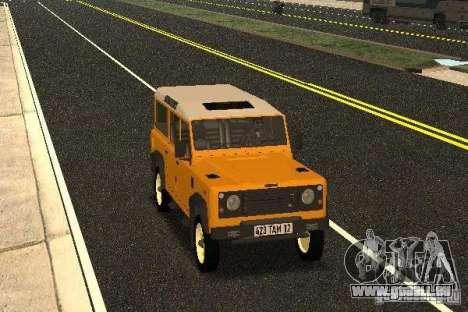 Land Rover Defender 110 pour GTA San Andreas vue arrière