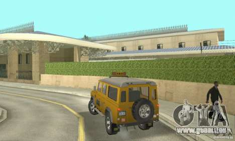 Land Rover Defender 110SW Taxi für GTA San Andreas linke Ansicht