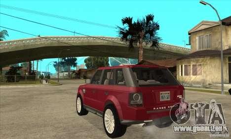 Land Rover Range Rover Sport HSE pour GTA San Andreas sur la vue arrière gauche