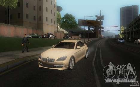 BMW 6 Series Gran Coupe 2013 für GTA San Andreas rechten Ansicht