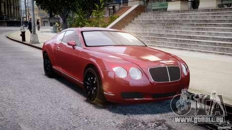 Bentley Continental GT 2004 pour GTA 4 Vue arrière