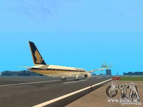 Airbus A350-900 Singapore Airlines pour GTA San Andreas vue de droite