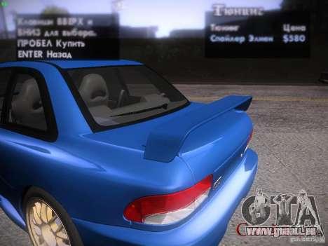 Subaru Impreza 22b Tunable für GTA San Andreas obere Ansicht