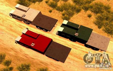MAZ-7310 civile Version étroite pour GTA San Andreas vue de droite