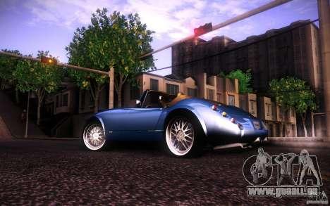 Wiesmann MF3 Roadster pour GTA San Andreas sur la vue arrière gauche