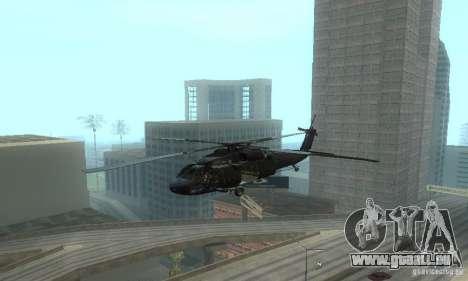 UH-60M Black Hawk pour GTA San Andreas vue intérieure