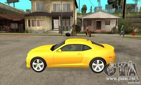 Chevrolet Camaro SS 2010 pour GTA San Andreas laissé vue