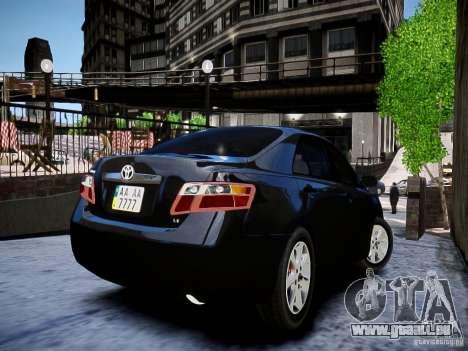 Toyota Camry für GTA 4 hinten links Ansicht
