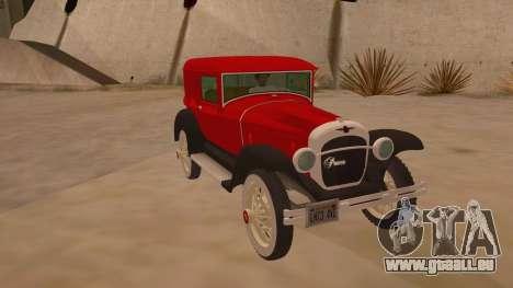 Pearce 1931 pour GTA San Andreas vue arrière