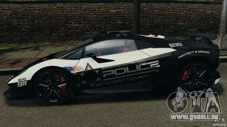 Lamborghini Sesto Elemento 2011 Police v1.0 RIV für GTA 4 linke Ansicht