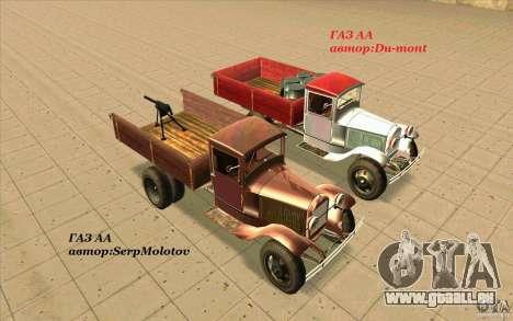 GAZ-AA für GTA San Andreas Unteransicht