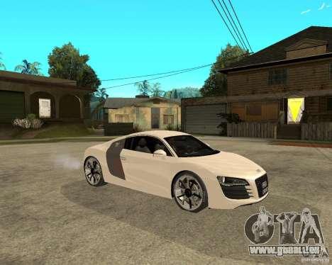 Audi R8 light tunable pour GTA San Andreas vue de droite