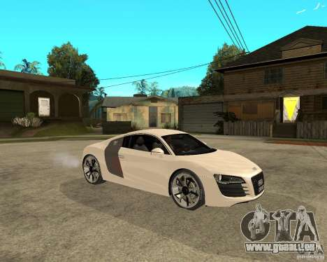 Audi R8 light tunable für GTA San Andreas rechten Ansicht