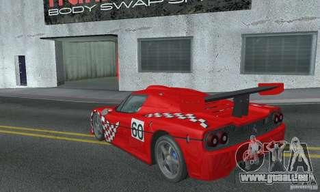 Ferrari F50 GT (v1.0.0) pour GTA San Andreas sur la vue arrière gauche