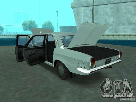 GAZ 24p pour GTA San Andreas vue intérieure