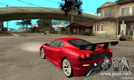 Ferrari F430 Scuderia 2007 FM3 für GTA San Andreas zurück linke Ansicht