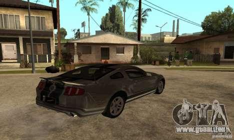 Ford Mustang Shelby 2010 für GTA San Andreas zurück linke Ansicht