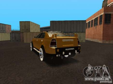 Hummer H0 pour GTA San Andreas sur la vue arrière gauche