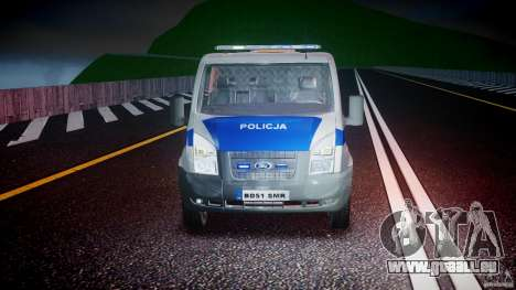 Ford Transit Polish Police [ELS] pour GTA 4 vue de dessus