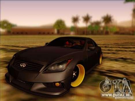 Infiniti G37 HellaFlush für GTA San Andreas