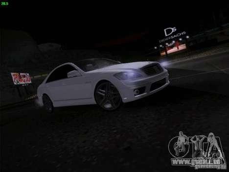 Mercedes-Benz S65 AMG V2.0 pour GTA San Andreas vue arrière