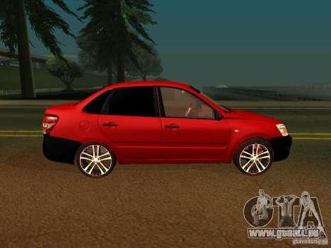 Lada 2170 für GTA San Andreas zurück linke Ansicht