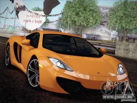 McLaren MP4-12C BETA pour GTA San Andreas vue arrière